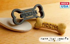 I am SO getting this Dog Bone Cookie Cutter Personalized With Daisy's Name!
