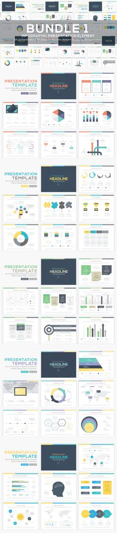 Infographic Presentation Vector Element Bundle 1   Use in website, flyer, corporate report, presentation, advertising, marketing etc.