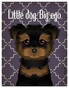 Yorkshire Terrier Funny Dogs Original Art Print - Humorous Dog Breed Art -11x14- Funny Dog Poster - Dogs Incorporated