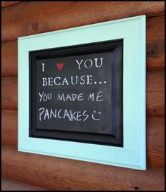 This is cute! Chalkboard.