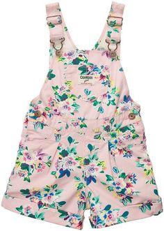 OshKosh B'Gosh baby pink floral overalls
