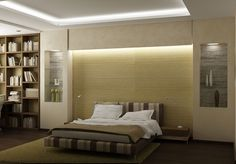 Bedroom design with cove lights #covelighting