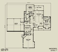 Asheville: I like the use of space :) //www.riverbendtf.com ... on ranch modular home floor plans, one story floor plans, texas ranch style home plans, custom home floor plans, dallas style home plans,