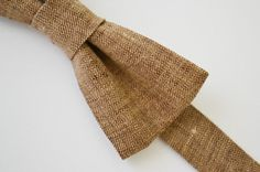 Bowtie Boys Ages 210 in Light Brown Linen by AmandaJoHandmade, $18.00