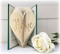 Combination Book Folding Pattern Home Heart + FREE Tutorial and Metric Ruler Printable by Book Folding Magic                                                                                                                                                                                 More