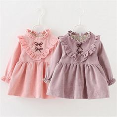 Fast Shipping High Quality Children Clothing 2016 Korean Fashion Casual Bow Princess Dress  Girl Dresses Autumn&Winter