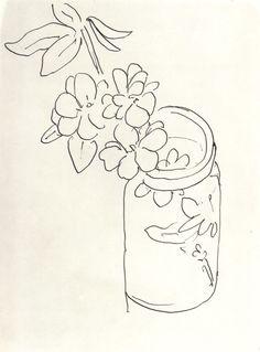 Henri Matisse - Fleurs Dans un Pot en Verre