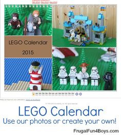 Create your own Lego wall calendar! This weekend, my husband had the awesome idea of taking pictures of our Legos and creating a wall calendar on Shutterfly. We had a blast building different scenes for each month! Then I put them all together in a 12 month calendar.  Below are my favorite calendar pages. …