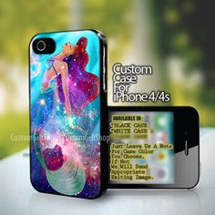 Ariel the little mermaid on galaxy nebula - design for iPhone 5 case Iphone 5 Cases, Iphone 5s, Cell Phone Cases, Mermaid Disney, Ariel The Little Mermaid, Hogwarts Letter, Galaxy Design, Best Phone, Accessories