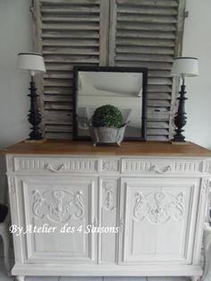 Par www.atelierdes4saisons.com #Buffet #vintage revisité pour un esprit maison de famille dans l'air du temps.