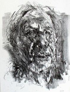 Bernard Heisig, Selbstportrait (1992), Papierformat: 28,5 x 21,5 cm