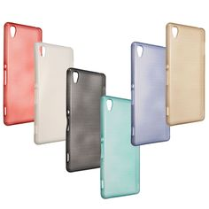 Ultra Slim Brushed Soft Gel TPU Protective Case Back Cover Skin For Sony Z3