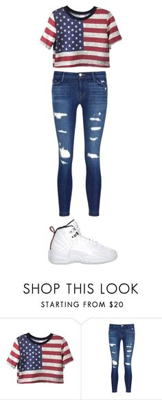 """4th of july outfit"" by prettygirlswagger-366 ❤ liked on Polyvore featuring J Brand and Retrò"