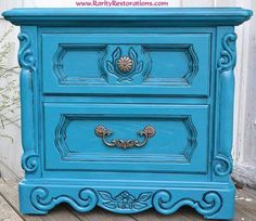 Turquoise end table Rarity, End Tables, Restoration, Turquoise, Furniture, Home Decor, Mesas, Decoration Home, Room Decor