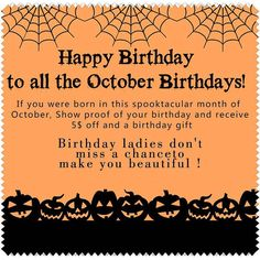 happy birthday to all the October birthday 'swish you dreams come true and the lady become more and more beautiful now we have the sales promotion for you .Focus on our Don't miss then .Until this moths end  http://ift.tt/1NxyySr http://ift.tt/1N42F5w October 27 2015 at 02:59PM