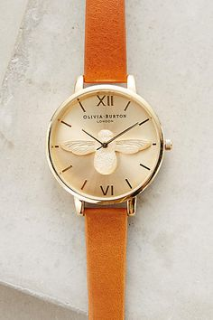 olivia burton moulded bee watch | anthropologie