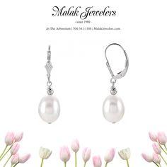 Some beautiful pearl earrings by Stuller - perfect for June birthdays! Gemstone Earrings, Pearl Earrings, June Birth Stone, Fresh Water, Birthstones, Birthdays, Jewels, Gemstones, Sterling Silver
