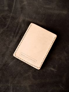 "Bas and Lokes Leather Goods - ""Rex"" Natural Vegetable Tanned Handmade Leather Slim Wallet Sleeve, $40.00 (http://www.basandlokes.com/rex-natural-vegetable-tanned-handmade-leather-slim-wallet-sleeve/)"