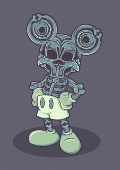 1st Mickey Mouse Skull anatomy! (via Desafio Criativo: Inspiração ::: Caveiras at dcriativo.com/2012)