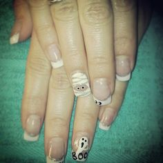 Cute Halloween nails.  Nails By Monica