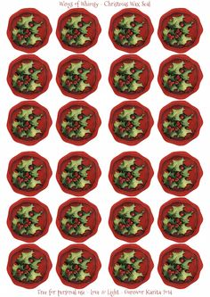 Wings of Whimsy: Christmas Wax Seal Sheet freebie printable