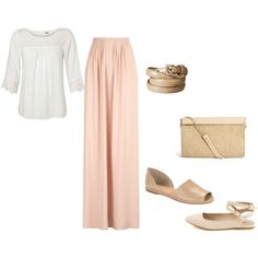 """Summer/Spring Modest Church Outfit Idea"" by hem-of-his-garment-ministries on Polyvore"