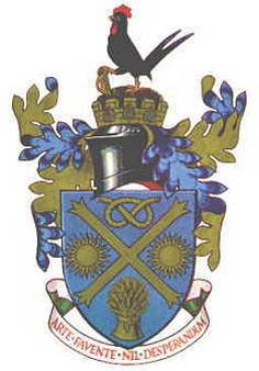 Coat of arms of LEEK (England)  Leeks AND Chickens!!!