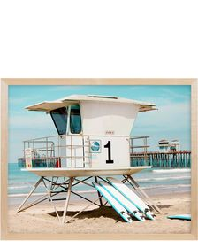 """Shop the """"Lifeguard Stand II"""" by Stephanie Sherman and browse the rest of our Wall Art at Serena and Lily. We specialize in unique, designer, and coastal styles. Nj Beaches, Modern Photographers, Amber Interiors, The Rest Of Us, Lifeguard, Coastal Style, Modern Coastal, Beach Art, Houses"""