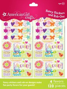 Amazon.com: American Girl Crafts General Mini Embellishment Craft Favors: Toys & Games