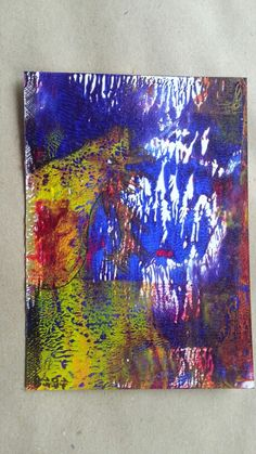 Gel-print Acryl auf Papier Postkarte  C 6