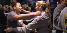 In the opening seconds of her first college basketball game, Mount St. Joseph University freshman Lauren Hill made the shot heard 'round the world. The story of her terminal brain cancer and her celebration in spite of it has been told all over the globe. But while most news cameras were focused on the celebration at center court, or the crowd of 10,000 cheering fans, our cameraman noticed something else remarkable. Steve Hartman reports.