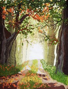 Waldstimmung, 50 x 40 cm