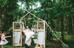 Rustic Chic Backyard Wedding: Michelle + Jimmy