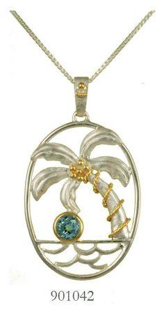 Blue Topaz pendant  - Poseidon's Treasures Collection