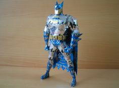 Awesome Batman Sculpture made out ofcans!