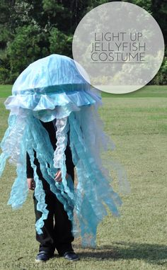 This light up Jellyfish Costume is simple to make and makes a big impact on Halloween. | In The Next 30 Days