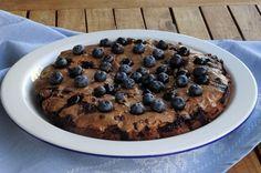 Brownies  με μύρτιλλα και φυστικοβούτυρο