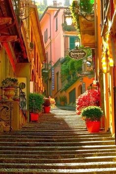 A stairway in Bellagio, Italy