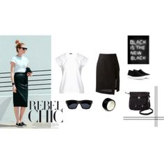 """""""Rebel Chic in black"""" by muotti"""