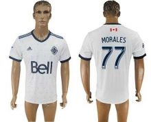 Vancouver Whitecaps FC #77 Morales Home Soccer Club Jersey