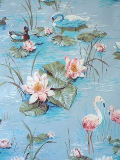 Vintage Wallpapers | Swan Lake Vintage Wallpaper | PRINT/PATTERN/ILLUSTRATED