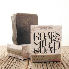 ($12) This Blossoms Barn Detox Goat's Milk Soap is made of activated charcoal to clean out your pores. These soaps are handmade with organic ingredients.   Ingredients: coconut *(Cocos nucifera) oil, goat milk, sunflower (Helianthus annus)seed oil,  olive*(Olea europaea) fruit oil, cocoa*(Theobroma cacao) seed butter , sodium hydroxide, castor (Ricinus communis ) seed oil, shea* (Butyrospermum parkii) fruit butter, spearmint oil, eucalyptus oil, clay, green tea extract, activated charcoal