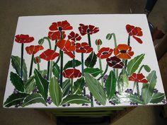 Mosaic WIP Poppies by mosaicdownunder