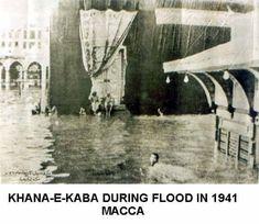 DesertRose/// Mekka kaaba during flood in Mecca Madinah, Mecca Kaaba, History Of Pakistan, History Of Islam, Islamic Pictures, Old Pictures, Hajj Pilgrimage, Masjid Al Haram, Mekkah