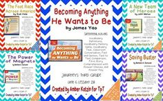 This bundle contains all 5 stories for © 2014 3rd Grade Journeys: Unit 6. There are a total of 40 student pages to be used as supplemental activities.