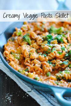 Creamy Veggie Pasta Skillet - Foxes Love Lemons