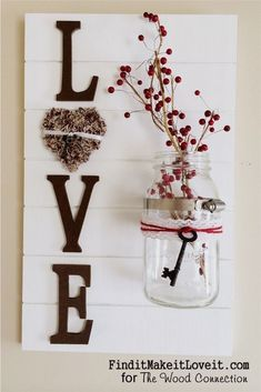 Best Country Decor Ideas - Rustic Wall Decoration with Mason Jar Vase - Rustic Farmhouse Decor Tutorials and Easy Vintage Shabby Chic Home Decor for Kitchen, Living Room and Bathroom - Creative Country Crafts, Rustic Wall Art and Accessories to Make and Sell http://diyjoy.com/country-decor-ideas #shabbychicbathroomsrustic #farmhousedecorcountry