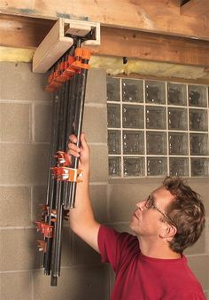 CLAMPS - Pipe Clamp Storage Idea.