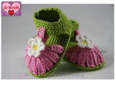 Babyschuhe mit Blume perfekt für Sommer- Anleitung von Natalija auf DaWanda.com
