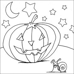 A Pumpkin Coloring Printable, suitable for older children to print out and color in Pumpkin Coloring Pages, Cat Coloring Page, Halloween Coloring Pages, Pattern Coloring Pages, Colouring Pages, Coloring Pages For Kids, Halloween Cat, Preschool Halloween, Halloween Color By Number